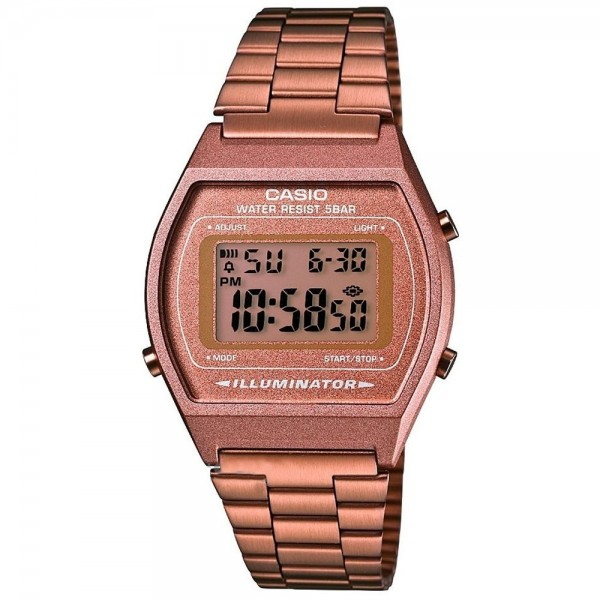 Classic Digital Watch with Stainless Steel Band - Rose Gold