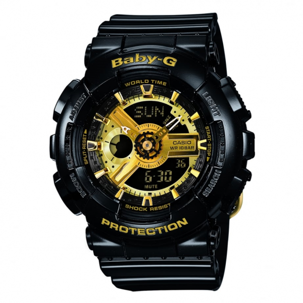 Baby-G Combination Watch with 5 Alarms - Black