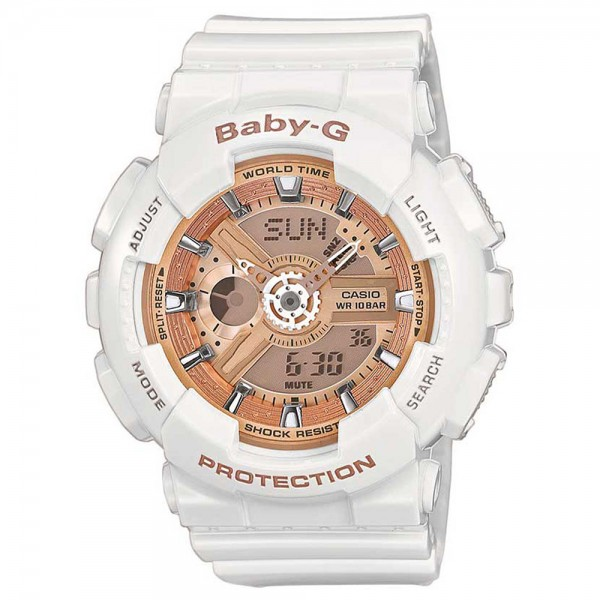 Baby-G Combination Watch with 5 Alarms - White