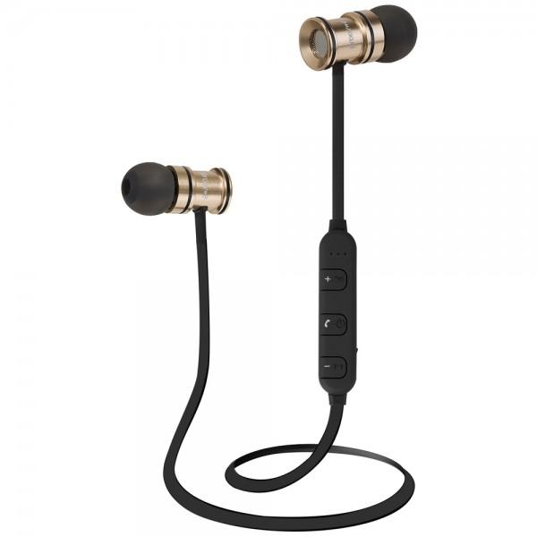 Bullet Buds Wireless Bluetooth Metal Earphones - Gold